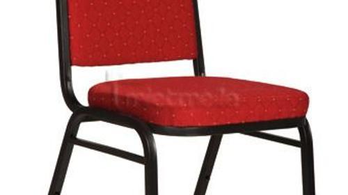 Bankettstuhl rot gepolstert