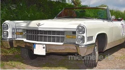 Cadillac de Ville Cabriolet in weiß - Hochzeitsauto