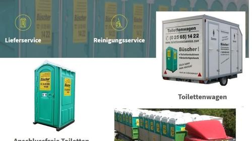 Baustellen-Toilette, mobile Toilette, Miet WC, Klo