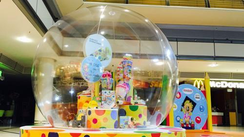 XXL- Bubbles - transparente Kugel