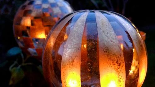 Windlichter & Dekokugeln / Rosenkugel