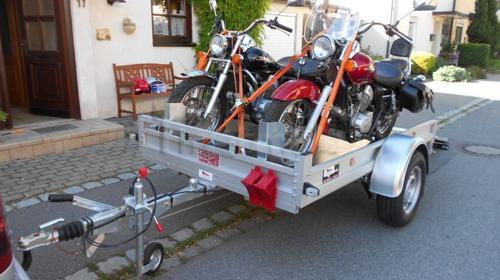 Motorradanhänger 100 km/h auch für Quad
