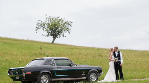 Ford Mustang 1968 Coupé Oldtimer Hochzeitsauto Mieten Ausfahrt