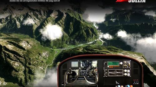 Flugsimulator mit weltweiten Flugzielen
