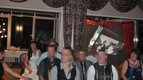 Hochzeitsdekoration auf 100 - 200 Zoll Projektion