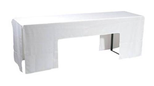 Husse für Tisch 220cm x 50cm weiß