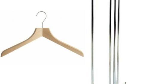 Kleiderbügel mit schönem Ständer, 50 Stk.