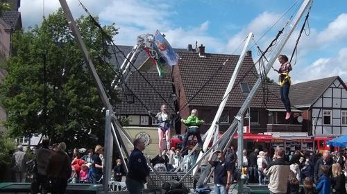 4er Bungee Trampolin Anlage SKYLINE JUMPER