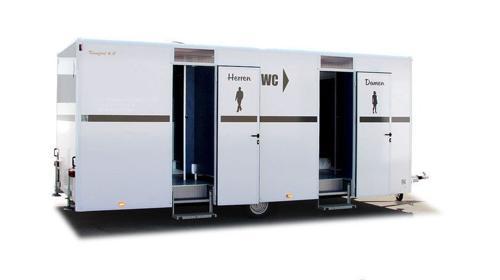 Toilettenwagen 6x WC, 4 x Urinal