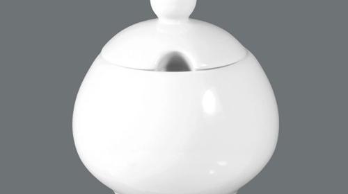 Bowl, 9,5 cm, dreieckig, weiß, uni