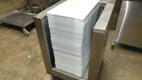 Tablettwagen Edelstahl für bis zu 100 Tabletts