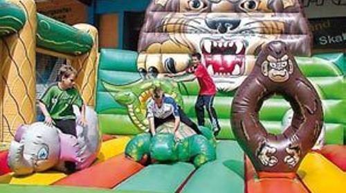 Hüpfburg Dschungel, Hüpfburg, Dschungel, Kinderfest, Party