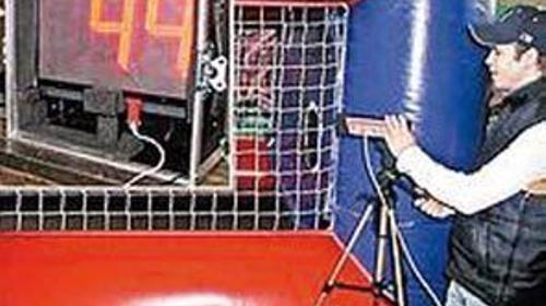 Geschwindigkeitsmessanlage mit Radar, Soccer Equipment