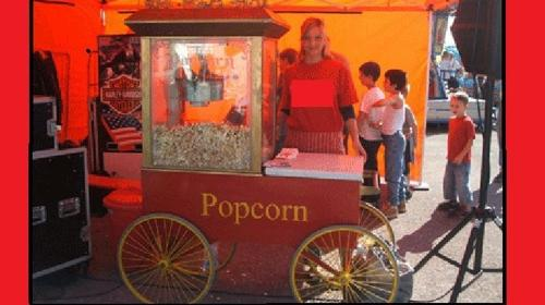 Popcornmaschine, Zuckerwatte mieten, leihen