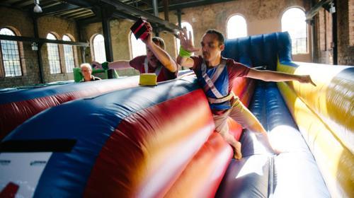 Bungee/Bungee Run/Attraktion/Event/Party/Kinder