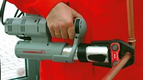 Fitting-Presszange mit einer Pressbacke, Elektro