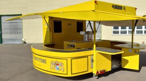 Ausschankwagen mit Kühlzelle,Verkaufswagen und vers.Bierkühler ( trocken ) auch AFG