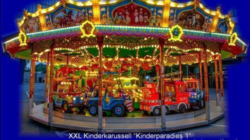 XXL Kinderkarussell für 55 Kinder.