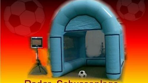 Fußball Radar Schussanlage, inkl. 20 Km,Auf-u.Abbau, 1x Personal & Haftpflichtversicherung.