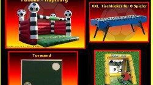 Klassische Fußball - Torwand mieten