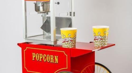 Große Nostalgie Popcornmaschine zu Vermieten
