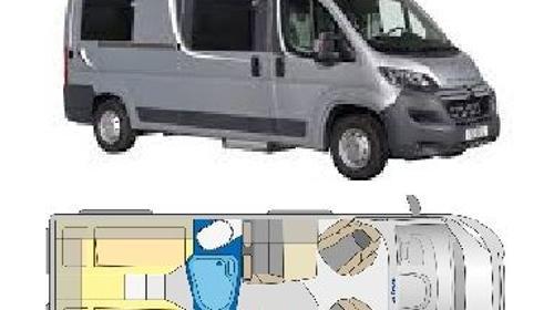 Kompakter Kastenwagen mit 2 Einzelbetten (6 Meter lang)