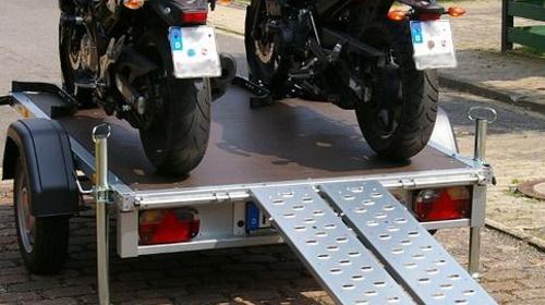 Motorradanhänger 100km/h für 1 oder 2 Motorräder