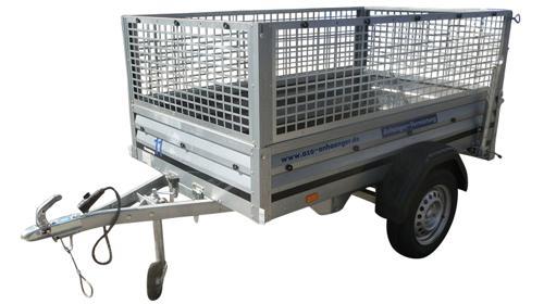 Laubgitter Anhänger 750kg für Garten, Hobby Laub und Sperrmüll