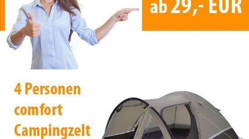 """4 Personen Zelt """"comfort"""""""