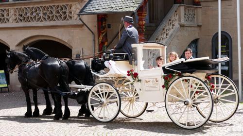 Romantische Hochzeitskutschen