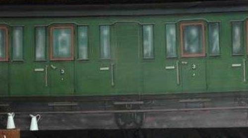 Orient Express Kulisse, Kulisse, Orient, Orient Express, Zug, Bahn, Waggon, Abteil, Dekoration, Wagen, Event, Messe