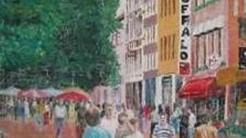 Düsseldorf Bolkenstraße Kulisse, Kulisse, Bolkenstraße, Dekoration, Düsseldorf, Straßenkulisse, Straße, Stadt
