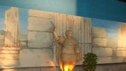 Antike griechische Säulen Kulisse, Säulen, Antik, Griechenland, griechisch, Tempelsäulen, Säulentempel, Dekoration