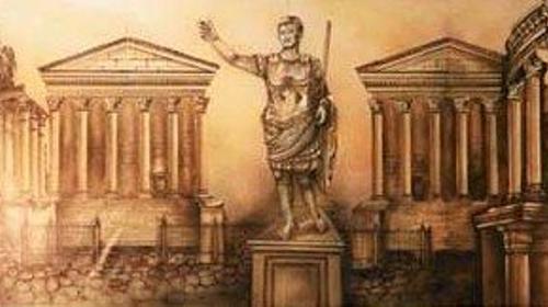Griechenland Kulisse, Kulisse, Griechenland, Grieche, griechisch, Antik, Tempel, Tempelanlange, Säulen, Säulentempel