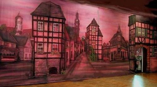 Kirschgasse Kulisse, Kirschgasse, Gasse, Frankfurt, Ffm, Altstadt, Fachwerk, Fachwerkhaus, Straße, Kulisse, Dekoration