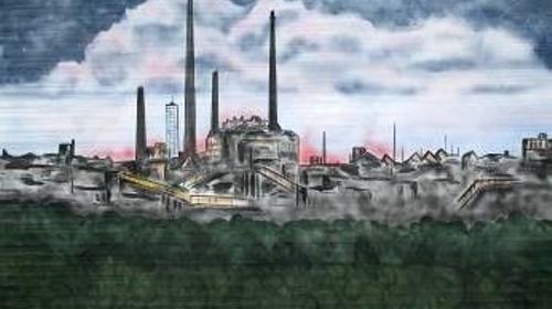 Industrie im Ruhrgebiet Kulisse, Kulisse, Industrie, Industrieturm, Ruhrgebiet, Ruhrpott, Industriell, Dekoration