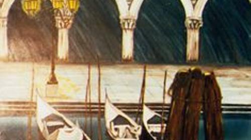 Venedig im Schnee Kulisse, Venedig, Schnee, Kulisse, venezianisch, Dekoration, Kanal, Italien, italienisch, Gondel
