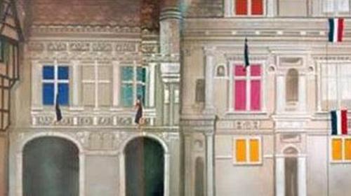 Frankreich Altstadt Kulisse, Kulisse, Altstadt, Frankreich, Paris, France, französisch, Dekoration, Häuserkulisse, Haus