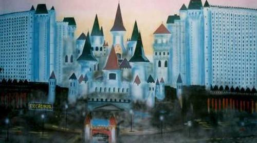 Hotel Excalibur Kulisse, Hotel, Excalibur, Kulisse, Dekoration, Schloss, Las Vegas, Glücksspiel, Casino, Schlosshotel