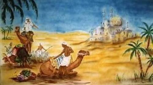 Kamel Kulisse, Kulisse, Karawane, Kamel, Wüstenschiff, Wüste, Sahara, Afrika, Ägypten, Nomade, Dekoration, Event, Messe