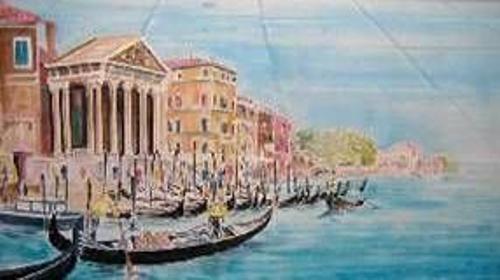 Venedig Kulissen, Venedig, Kulisse, venezianisch, Italien, italienisch, Wasserstraße, Dekoration, Event, Messe