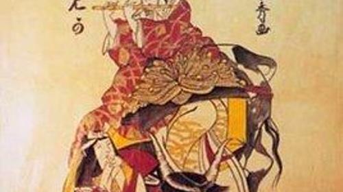 Japan Geisha mit Flöte Kulisse, Flöte, Geisha, Kulisse, Japan, japanisch, chinesisch, China, Frau, Dekoration, Event