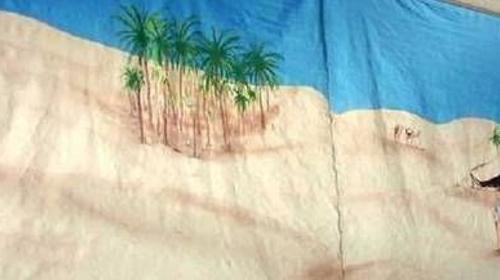 Wüste Oasen Kulisse, Wüste, Oase, Afrika, Nomade, Kulisse, Dekoration, Steppe, afrikanisch, Sahara, Event, Messe