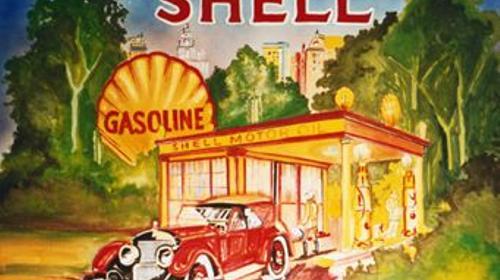 Shell Gasoline Kulisse, Gasoline, Shell, Tankstelle, Tanke, Kulisse, Dekoration, Event, Messe, Veranstaltung, leihen