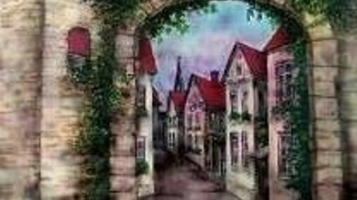 Grinziggasse Kulisse, Gasse, Kulisse, Altstadt, Stadt, Straße, Grinziggasse, Fachwerk, Fachwerkhaus, Dekoration