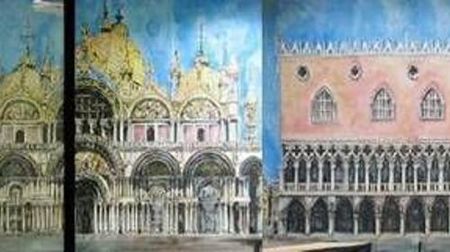 Dogenpalast Kulisse, Palast, Kulisse, Palastkulisse, Dogenpalast, Schloss, Schlosskulisse, Dekoration, Event, Messe