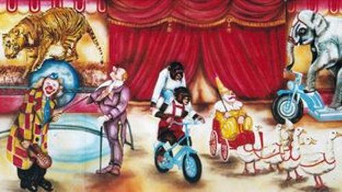 Zirkus Manegen Kulisse, Zirkus, Cirkus, Manege, Kulisse, Spaß, Unterhaltung, Domteur, Dekoration, Event, Messe