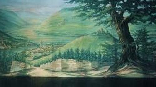 Rüdesheim mit Blick auf das Niederwalddenkmal Kulisse, Kulisse, Rüdesheim, Niederwalddenkmal, Denkmal, Niederwald