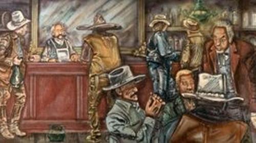 Western Saloon Kulisse, Western, Kulisse, Saloon, Bar, Wilder Westen, Cowboys, Dekoration, Event, Messe, Veranstaltung