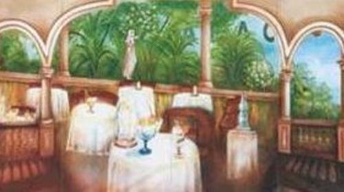 Spanische Restaurant Kulisse, Restaurant, Spanisch, Spanien, Kulisse, Restaurantkulisse, Speisesaal, Speiseraum